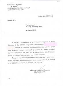 Pismo do KPP w Nisku