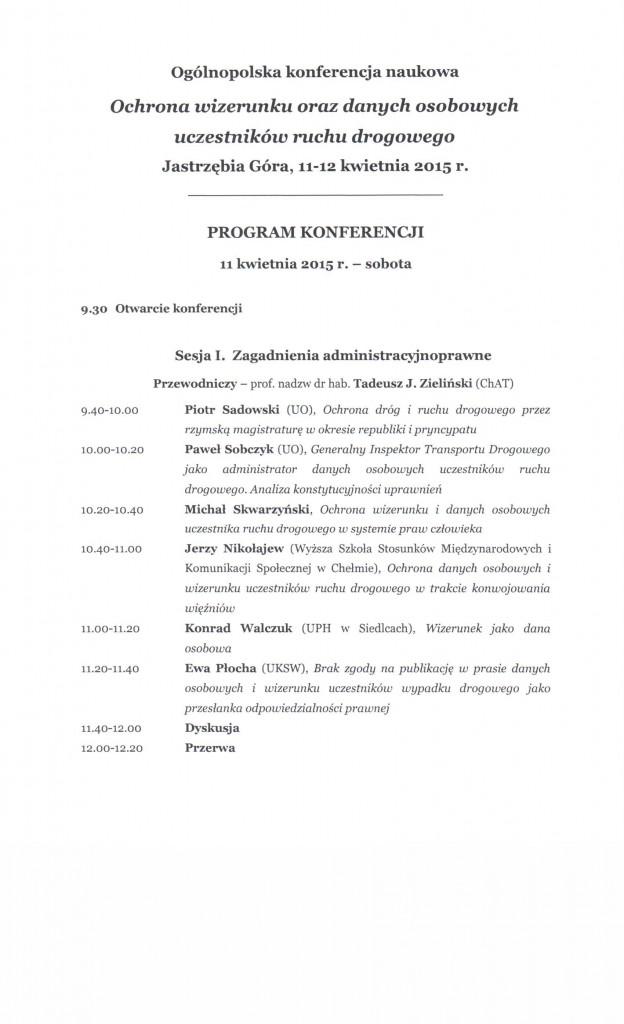 Program konferencji 001