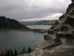 Widok z zamku na zalew czorsztyński