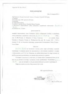 Postanowienie Sądu Rejonowego Poznań Grunwald i Jeżyce z dnia 14 sierpnia 2012 r.