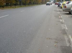 Miejsce kolizji z perspekyywy nadjeżdżajacego kierowcy