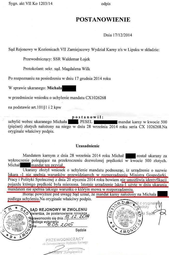 Postanowienie Sądu Rejonowego w Kozienicach - VII Wydział Zamiejscowy w Lipsku