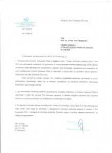 Odpowiedź Komendy Powiatowej Policji w Myśliborzu na wniosek o udostępnienie informacji publicznej